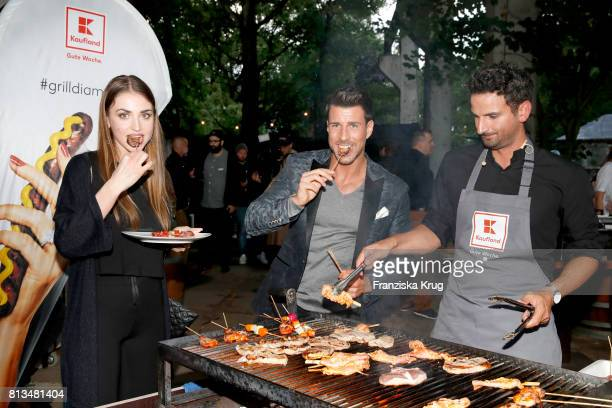 Ekaterina Leonova Leonard Freier and Alexander Wahi attend the Kaufland Hosts VIP BBQ at OberhafenKantine on July 12 2017 in Berlin Germany