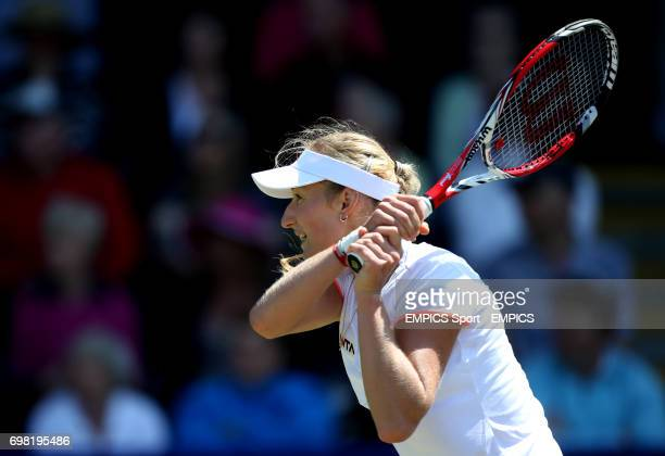 Ekaterina Makarova during her match against Angelique Kerber