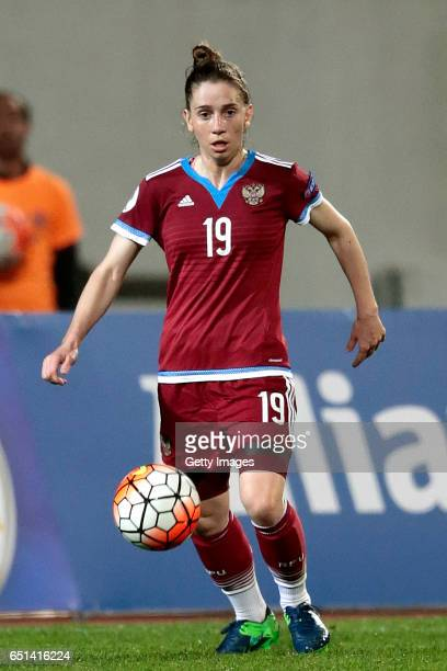 Ekaterina Morozova of Russia during the Algarve Cup Tournament Match between Sweden W and Russia W on March 8 2017 in Albufeira Portugal