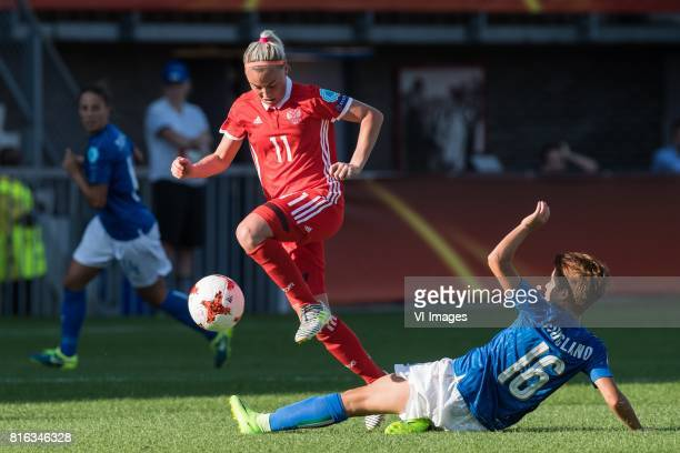 Ekaterina Sochneva of Russia women Manuela Giugliano of Italy Women during the UEFA WEURO 2017 Group B group stage match between Italy and Russia at...
