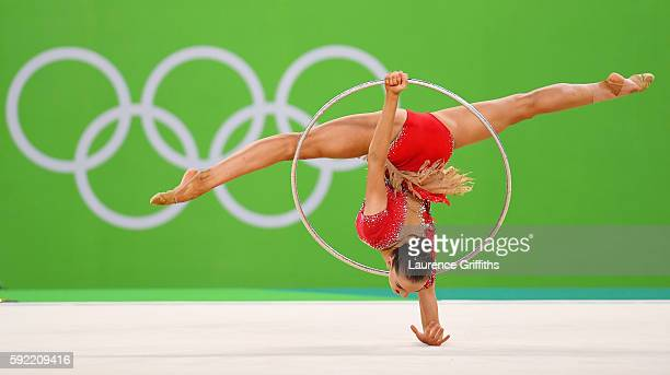 Ekaterina Volkova of Finland performs during the Rhythmic Gymnastics Individual AllAround on August 19 2016 at Rio Olympic Arena in Rio de Janeiro...