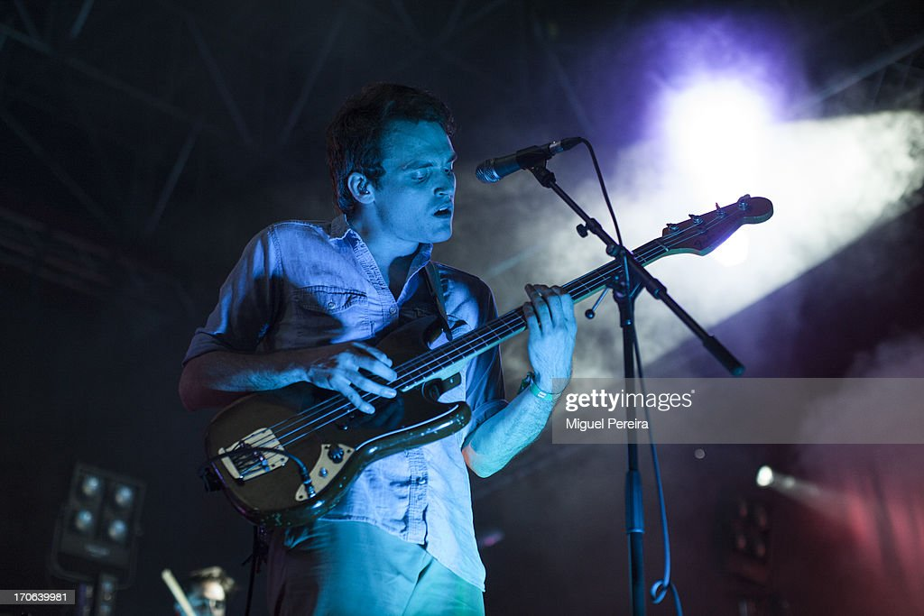 Ekhi Lopetegi of Delorean performs on stage at Sonar on June 15, 2013 in Barcelona, Spain.