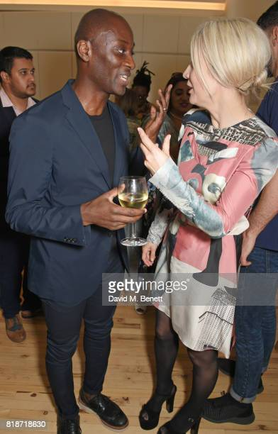 Ekow Eshun and Justine Simons attend the Mayor of London's Summer Culture Reception on July 18 2017 in London England