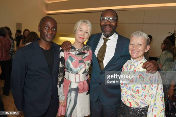 Ekow Eshun Justine Simons Deputy Mayor for Culture and the Creative Industries Sir Lenny Henry and Maria Balshaw attend the Mayor of London's Summer...
