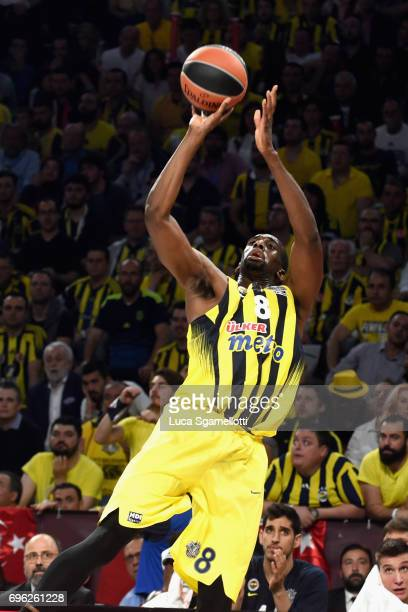 Ekpe Udoh #8 of Fenerbahce Istanbul in action during the Championship Game 2017 Turkish Airlines EuroLeague Final Four between Fenerbahce Istanbul v...
