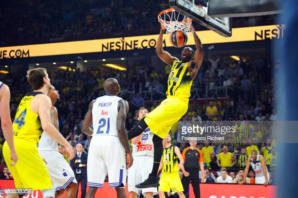 Ekpe Udoh #8 of Fenerbahce Istanbul in action during the Turkish Airlines EuroLeague Final Four Semifinal A game between Fenerbahce Istanbul v Real...
