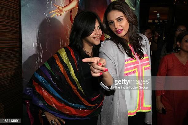 Ekta Kapoor and Huma Qureshi at the launch of Ek Thi Daayan's book Daayan by Ved Prakash Sharma in Mumbai on 3rd April 2013