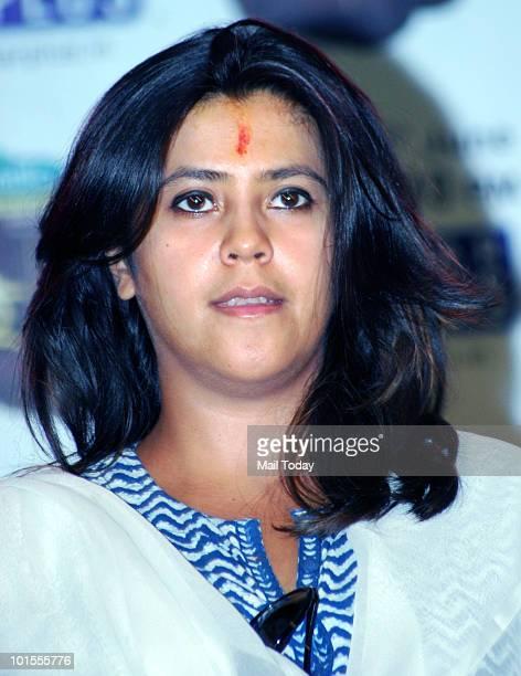 Ekta Kapoor at the launch of her new show in Mumbai on June 1 2010