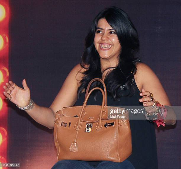 Ekta Kapoor at the unveiling of the first look of the movie The Dirty Picture in Bandra Mumbai on August 30 2011