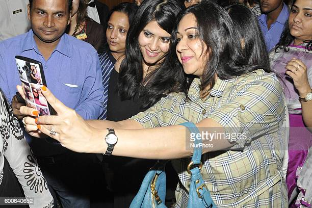 Ekta Kapoor Indian TV and film producer and daughter of actor Jeetendra during FICCI Ladies Organisation organized a special interactive session on...