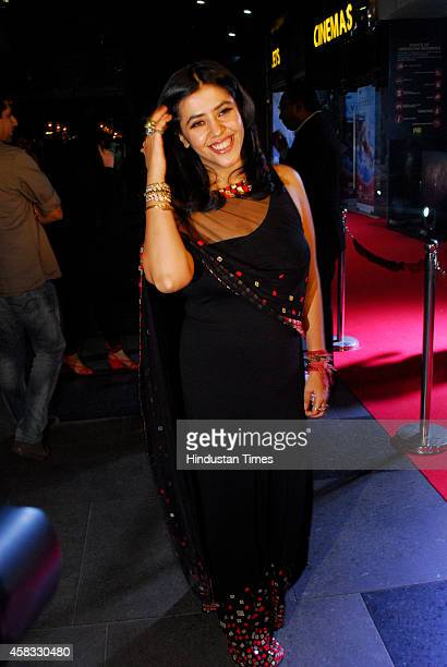Ekta Kapoor Joint Managing Director and Creative Director Balaji Telefilms during the premiere of Hollywood film The Best of Me on October 29 2014 in...
