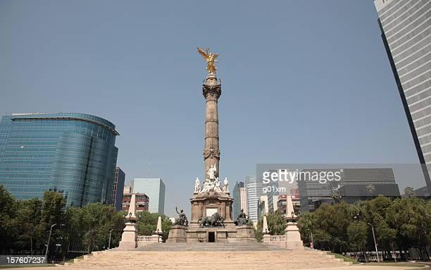 El Angel and Skyscraper in Mexico city, Mexico