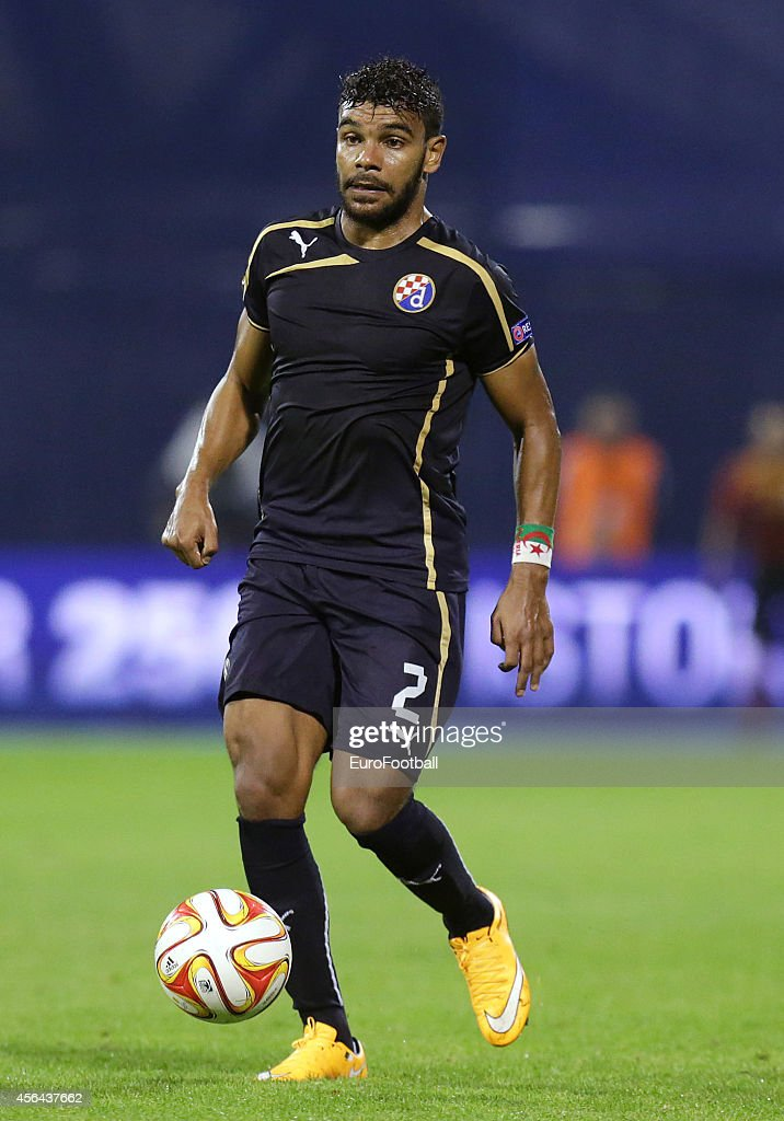 El Arabi Hilal Soudani of Dinamo Zagreb in action during the UEFA Europe League match between GNK Dinamo Zagreb and FC Astra Giurgiu at the Maksimir Stadium on September 18, 2014 in Zagreb,Croatia.