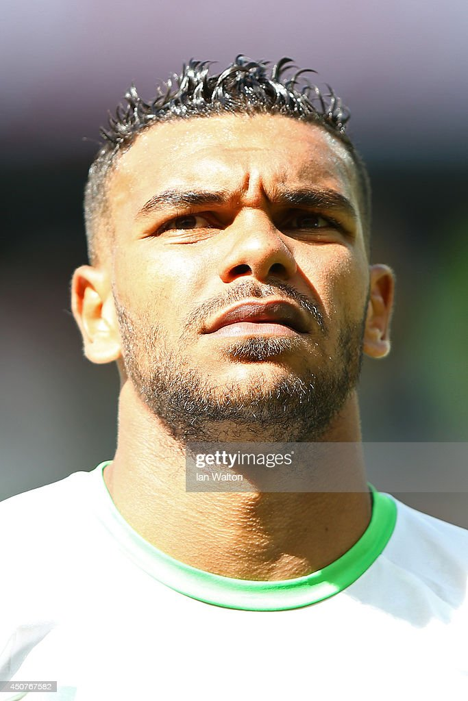 <a gi-track='captionPersonalityLinkClicked' href=/galleries/search?phrase=El+Arbi+Hillel+Soudani&family=editorial&specificpeople=8283743 ng-click='$event.stopPropagation()'>El Arbi Hillel Soudani</a> of Algeria looks on before the 2014 FIFA World Cup Brazil Group H match between Belgium and Algeria at Estadio Mineirao on June 17, 2014 in Belo Horizonte, Brazil.