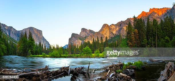 El Capitan and Merced River Panorama