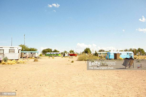 El Cosmico where guests can rent retro trailors and teepees to stay in overnight in Marfa Texas on July 14 2012