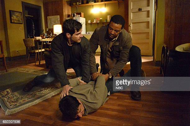 GRIMM 'El Cuegle' Episode 604 Pictured David Giuntoli as Nick Burkhardt Carlos Sanz as El Cuegle Russell Hornsby as Hank Griffin
