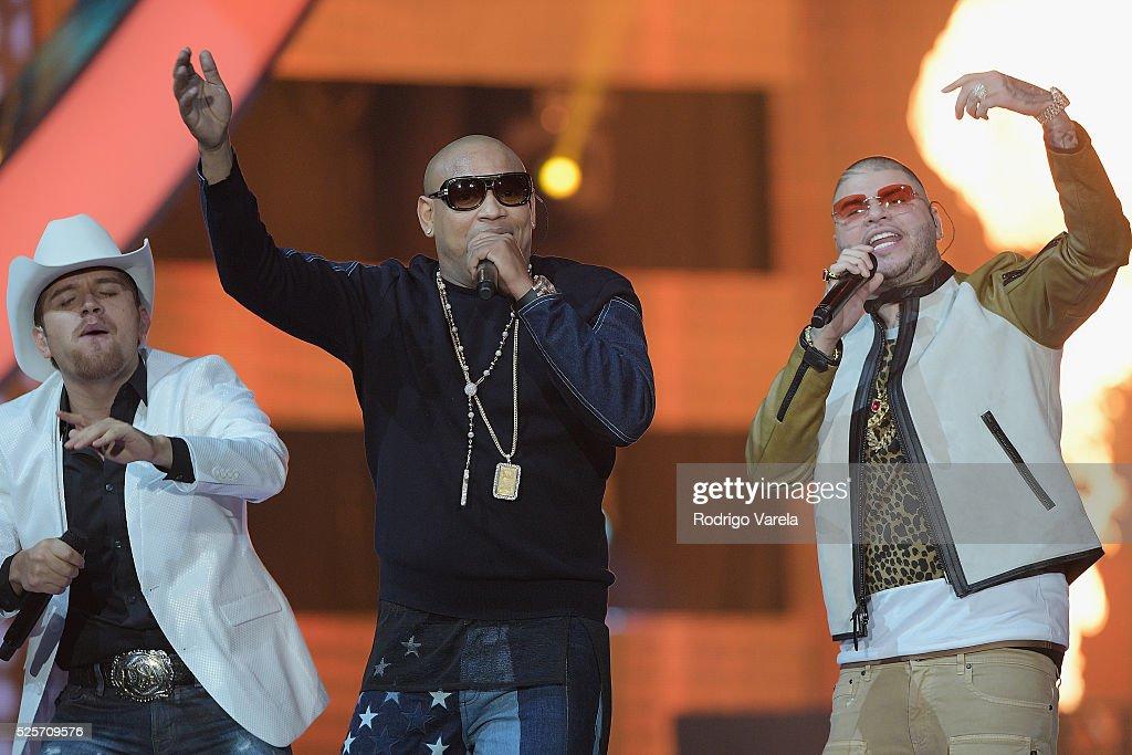 El Dasa, Gente de Zona and Farruko perform onstage at the Billboard Latin Music Awards at Bank United Center on April 28, 2016 in Miami, Florida.