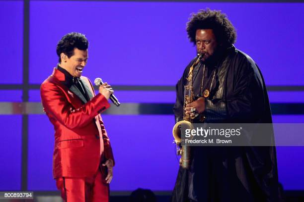 El DeBarge and Kamasi Washington perform onstage at 2017 BET Awards at Microsoft Theater on June 25 2017 in Los Angeles California