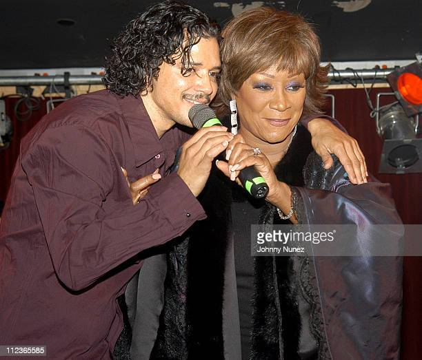 El DeBarge and Patti LaBelle during MBK's RB Live Featuring Chico and El DeBarge November 10 2003 at BB King in New York City New York United States