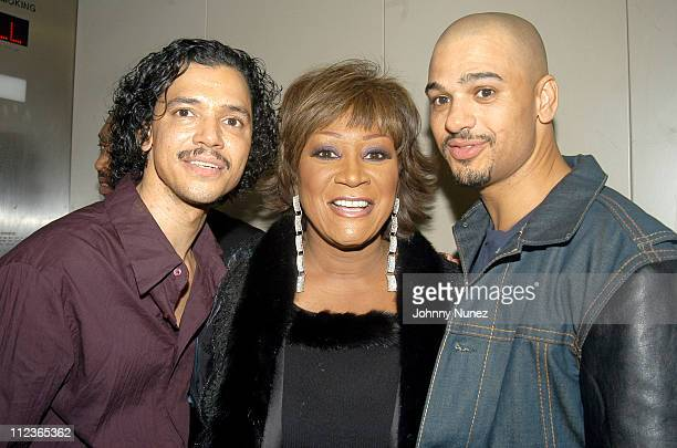 El DeBarge Patti LaBelle and Chico DeBarge during MBK's RB Live Featuring Chico and El DeBarge November 10 2003 at BB King in New York City New York...