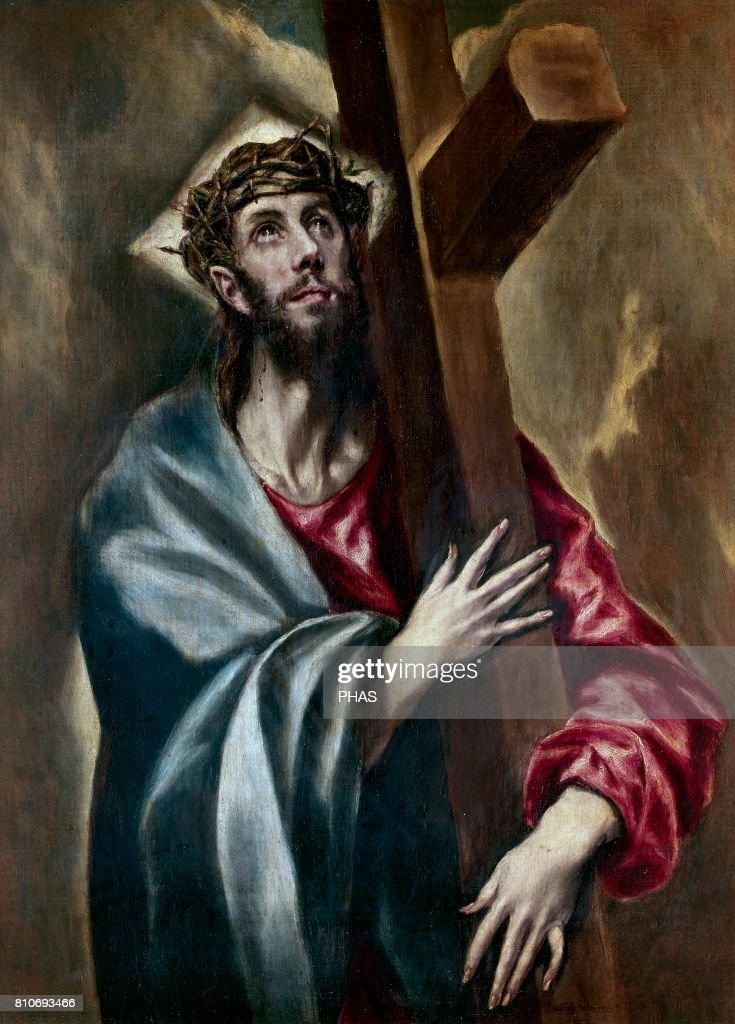 El Greco (Domenikos Theotokopoulos) (1541-1614). Mannerism, Late Renaissance. Christ carrying The Cross (circa 1602). Oil on canvas. Museo del Prado (Madrid, Spain).