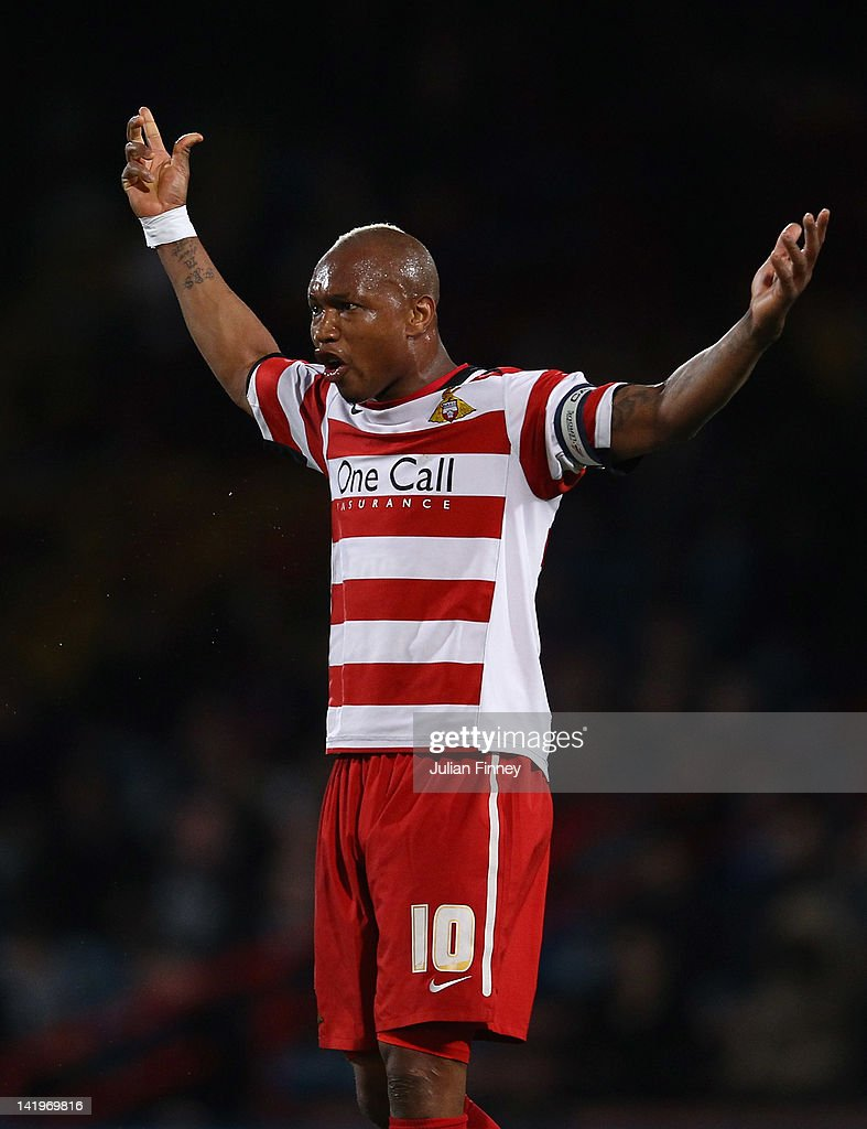 El Hadji Diouf of Doncaster reacts during the npower Championship match between Crystal Palace and Doncaster Rovers at Selhurst Park on March 27, 2012 in London, England.