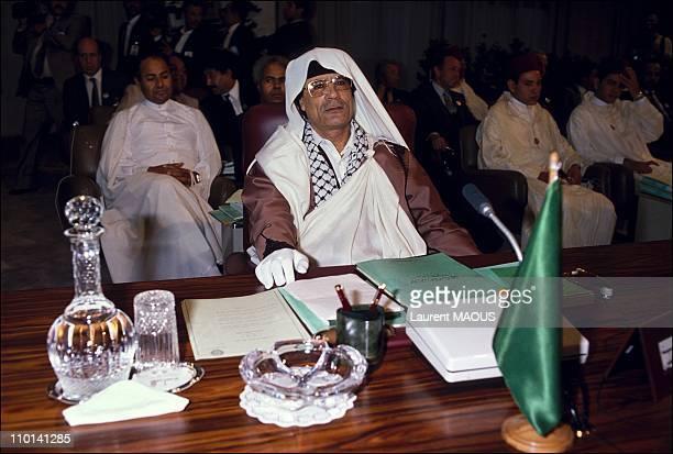 M el Kadhafi in Algiers Algeria in June 1988