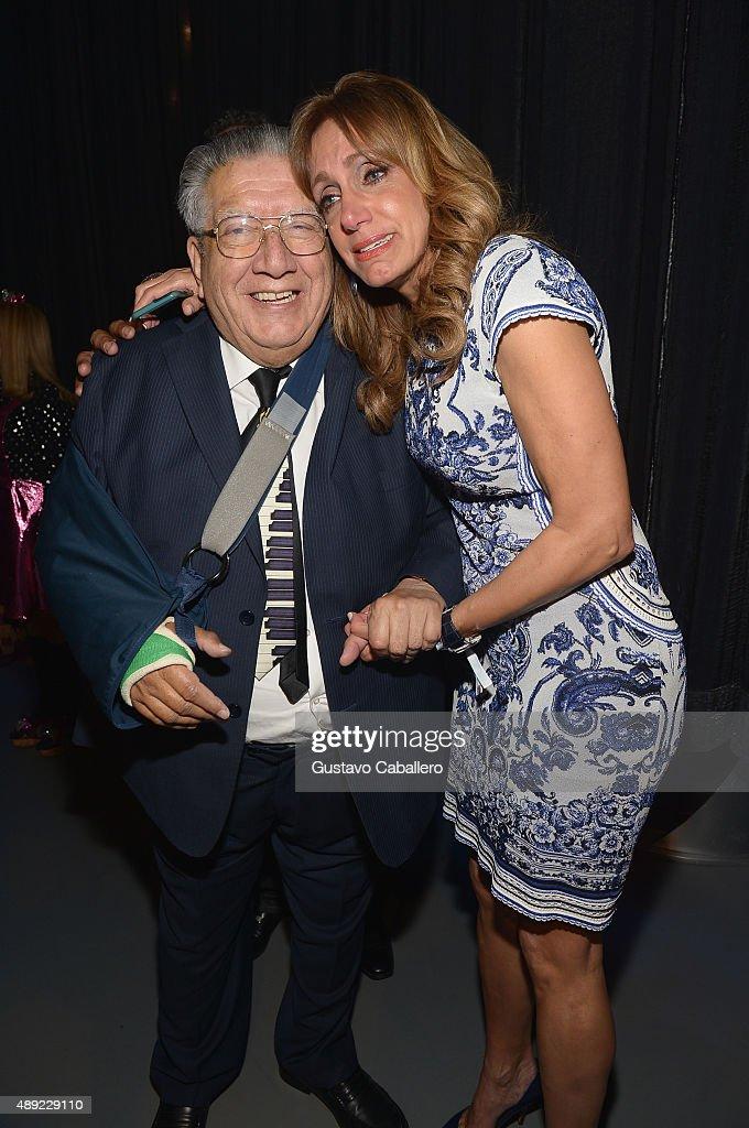 El Maestro Valentin Trujillo And Lili Estefan Are Seen Backstage At  Univisionu0027s U0027Sabado Giganteu0027