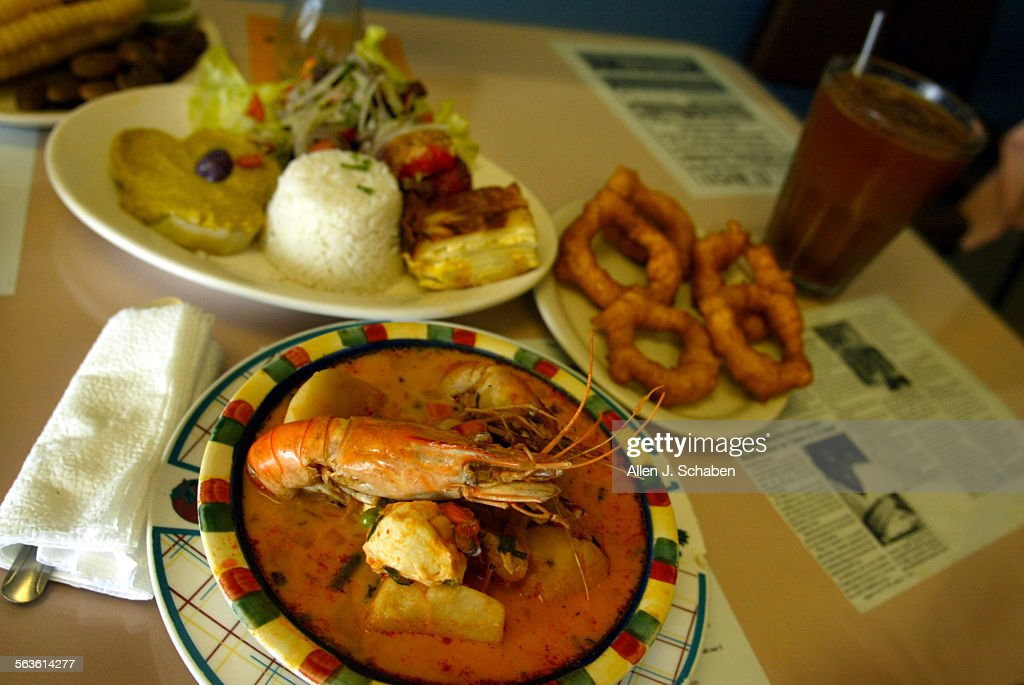 El Misti of Anaheim a restaurant that specializes in the food of Arequipa in southern Peru Chupe de Camaron front a rich seafood soup cooked with...