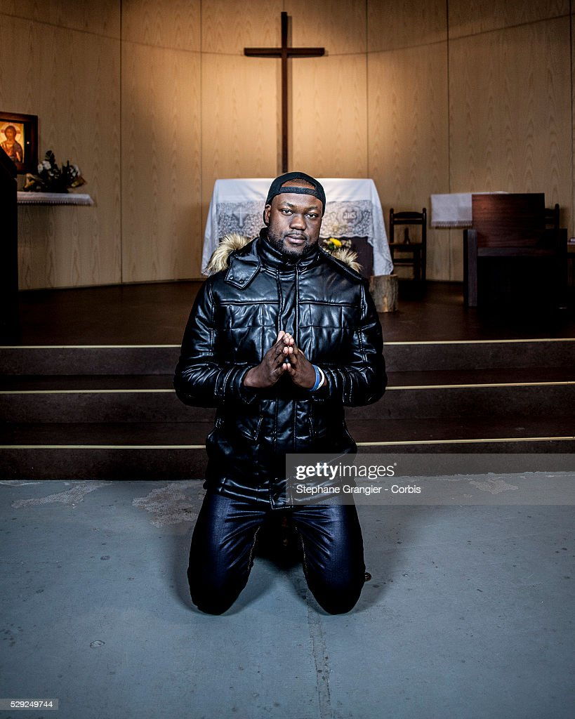 El Nino La Bonne Nouvelle Musician RAP Catholic Golgotha Music Association photographed in Aulnay Sous Bois