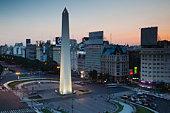 El Obelisko, Plaza de la Republica