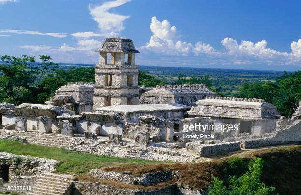 El Palacio at Palenque, it's thought that the tower was constructed so that Mayan royalty and the priest class could observe the sun falling directly into the Templo de los Inscripciones during the December 22 winter solstice