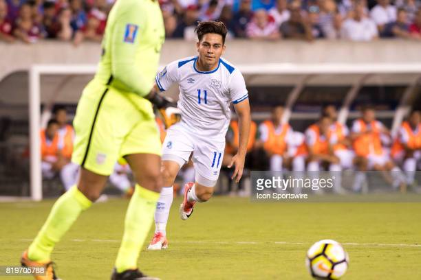 El Salvador Forward Rodolfo Zelaya chases down the ball in the first half during the CONCACAF Gold Cup Quarterfinal game between the United State and...