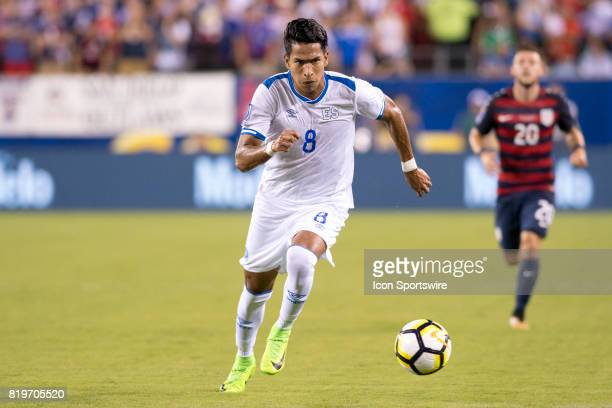 El Salvador Midfielder Denis Pineda chases the ball in the first half during the CONCACAF Gold Cup Quarterfinal game between the United State and El...
