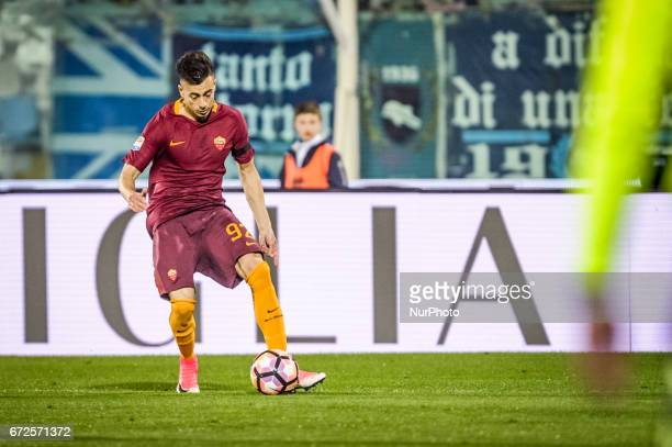 El Shaarawy Stephan during the Italian Serie A football match Pescara vs Roma on April 24 in Pescara Italy