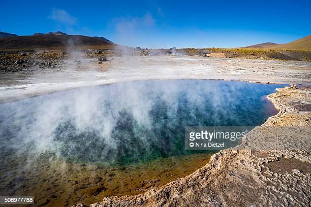 El Tatio geyser fields at sunrise