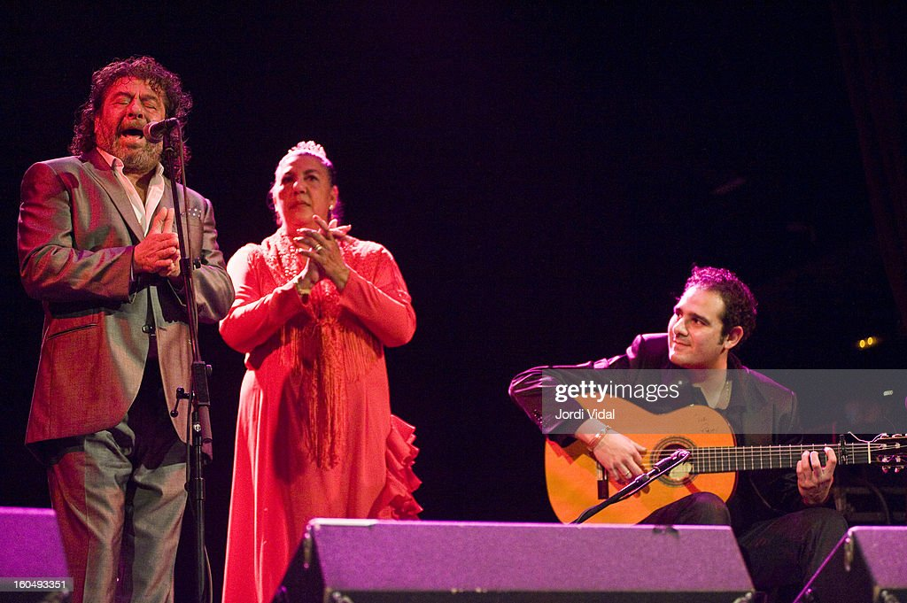Diego del Morao perform on stage during Caprichos del Apolo at Sala Apolo on February 1, 2013 in Barcelona, Spain.