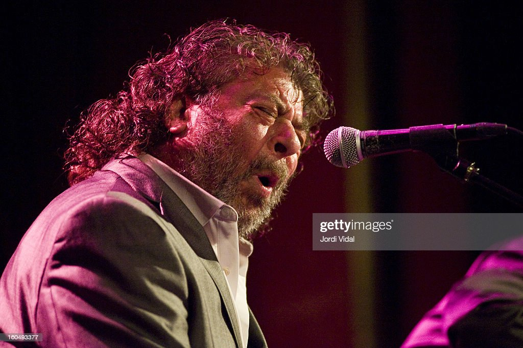El Torta performs on stage during Caprichos del Apolo at Sala Apolo on February 1, 2013 in Barcelona, Spain.