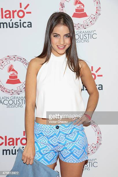 Ela Velden attends the Latin Grammy Acustic Sessions at Centro Cultural Roberto Cantoral on June 3 2015 in Mexico City Mexico