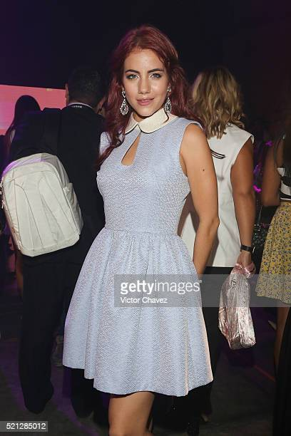 Ela Velden attends the third day of MercedesBenz Fashion Week Mexico Autumn/Winter 2016 at Auditorio BlackBerry on April 13 2016 in Mexico City Mexico