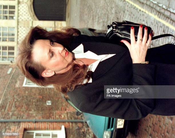 Elaine Arscott arrives at King's Lynn Crown Court Norfolk today where she was sentenced was deferred for two weeks for her part in a multimillion...