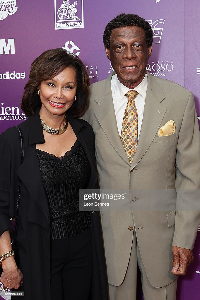 Elaine Baylor and Elgin Baylor arrives at the Kareem Abdul-Jabbar Celebrity Roast Hosted By George Lopez at JW Marriott Los Angeles at L.A. LIVE on November 17, 2012 in Los Angeles, California.
