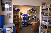 Elaine Biagini shops for earthquake supplies at Earthquake Supply Center on August 27 2014 in San Rafael California Days after a 60 earthquake rocked...