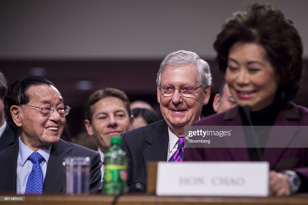 Image result for IMAGES OF PRESIDENT TRUMP MITCH MCCONNELL ELAINE CHAO