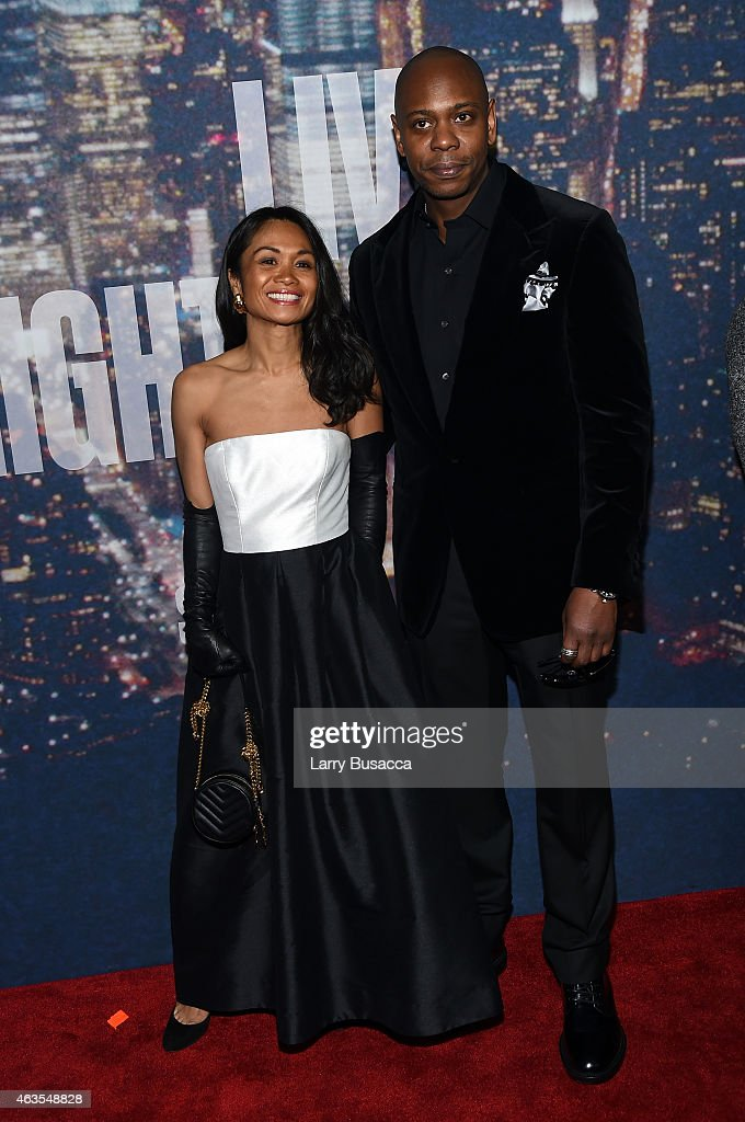 Elaine Chappelle (L) and Dave Chappelle attend SNL 40th Anniversary Celebration at Rockefeller Plaza on February 15, 2015 in New York City.