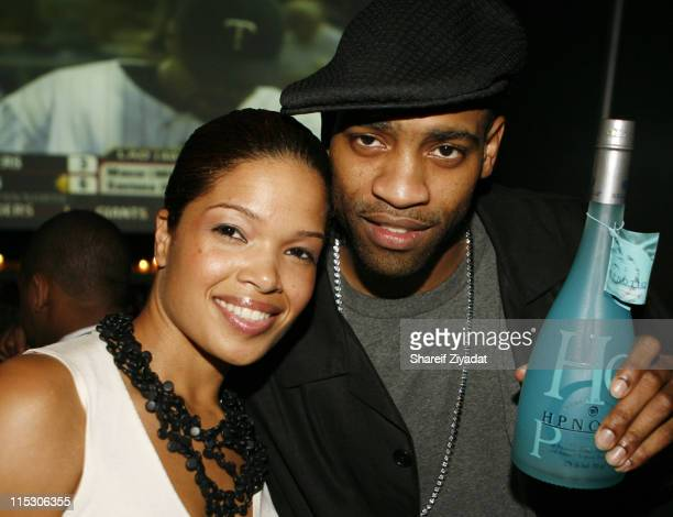 Elaine Hamilton and Vince Carter during 2006 NBA Draft Party at the 40/40 Club in New York City June 28 2006 at The 40/40 Club in New York City New...