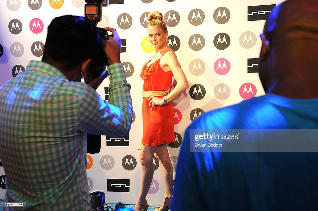 Elaine Hendrix attends Moto X Launch Event on August 1, 2013 in New York City.