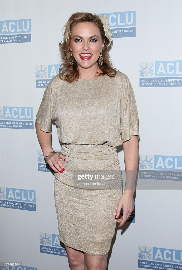 Elaine Hendrix attends the ACLU of Southern California's 2012 Bill of Rights Dinner held at the Beverly Wilshire Four Seasons Hotel on December 3, 2012 in Beverly Hills, California.