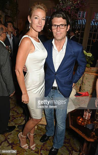 Elaine Irwin and Jay Penske attend the FIA Formula E Championship private dinner at Chiltern Firehouse on July 1 2016 in London England